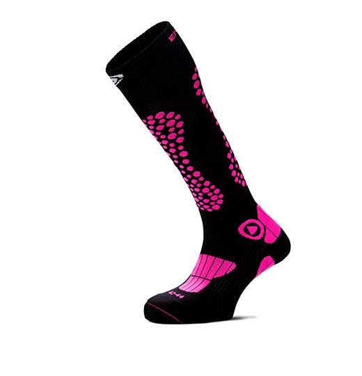 Warme skisokken roze
