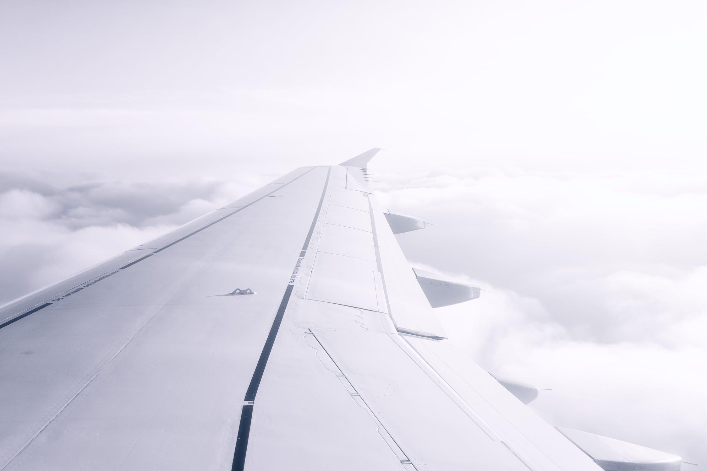 Sokken voor in het vliegtuig